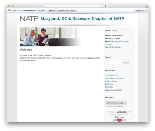 Customized top WordPress theme - mdd-natp.org