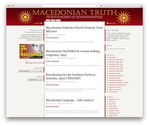 Disciple theme WordPress - macedoniantruth.org