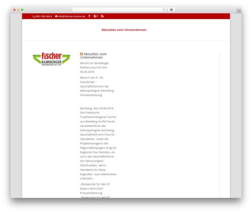 Divi top WordPress theme - magazin.frischer-fischer.de