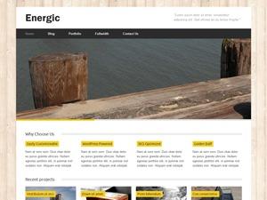 Energic personal blog WordPress theme