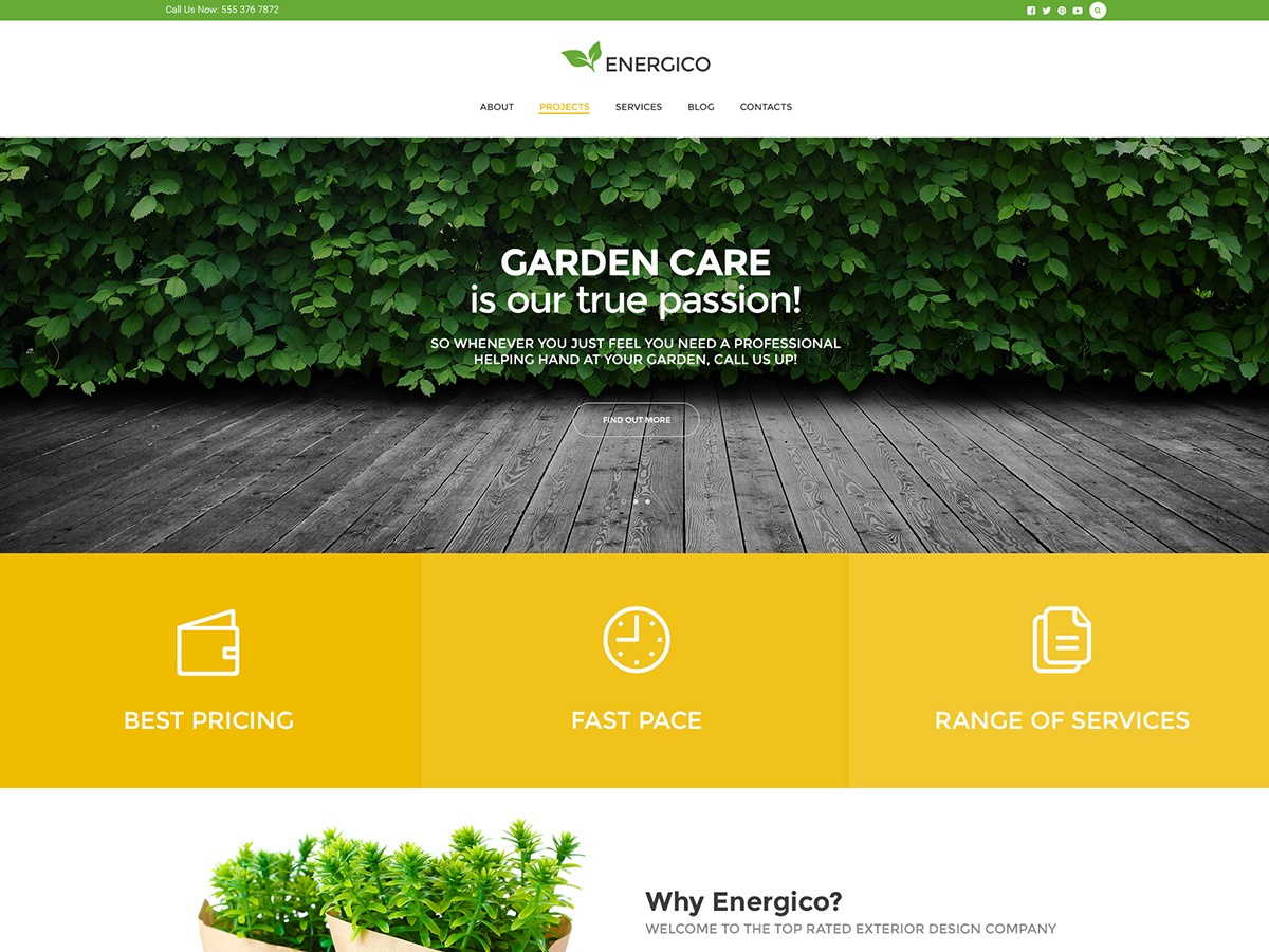 Energico business WordPress theme