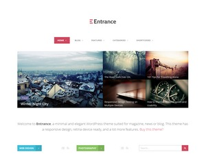 Entrance Child Theme premium WordPress theme