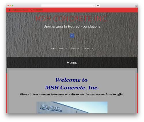 Fifteen free WordPress theme - mshconcrete.com
