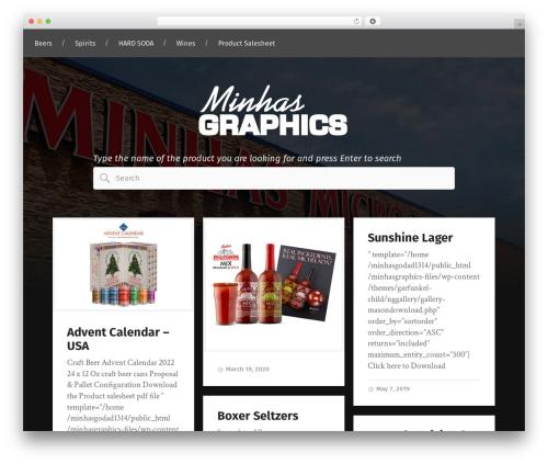Garfunkel WordPress template for business - minhasgraphics.com