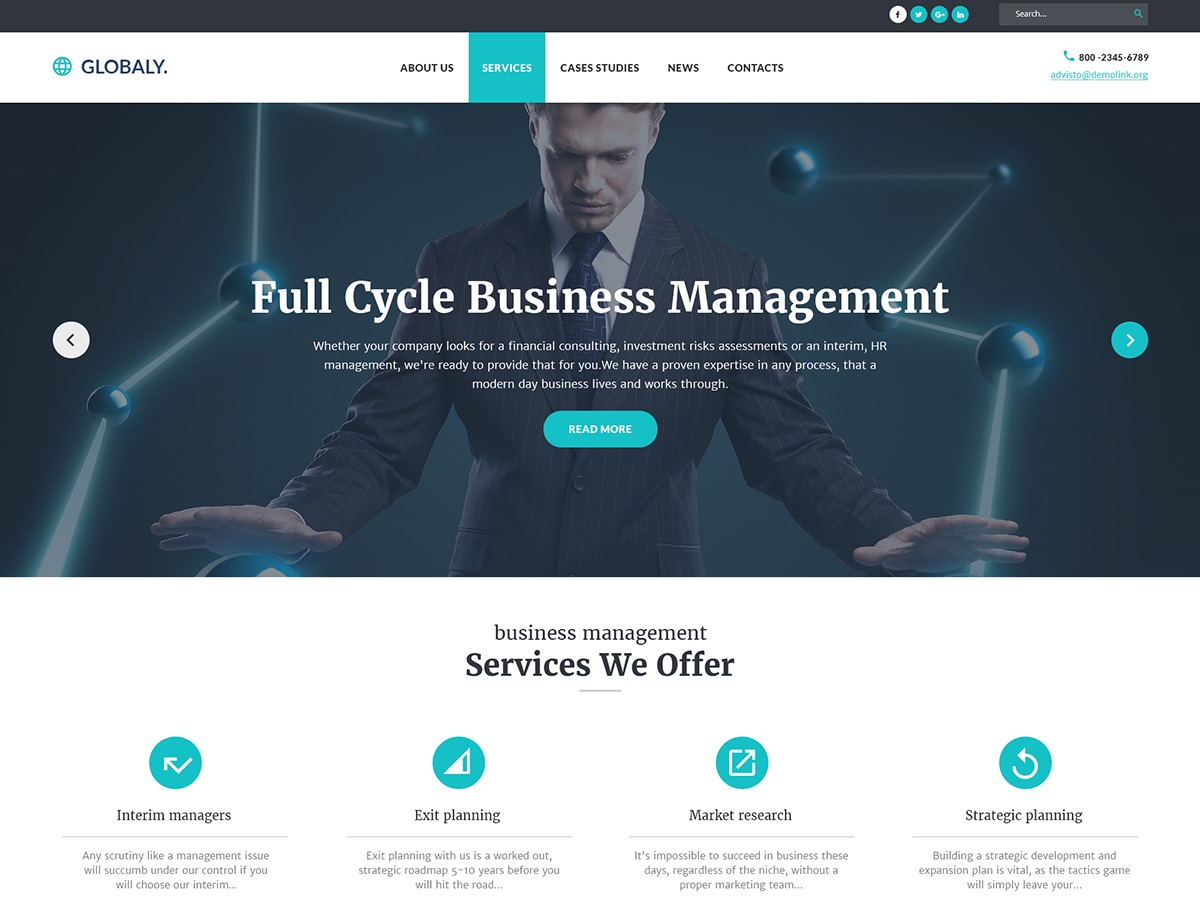 Globaly WordPress template for business