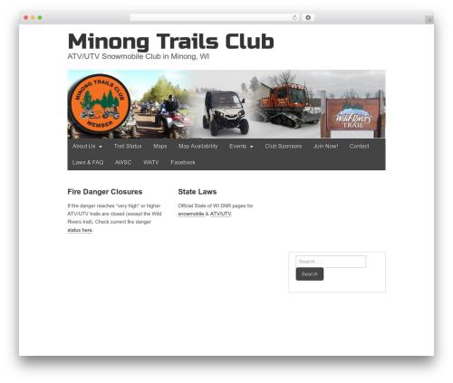 Gridiculous free WordPress theme - minongtrails.com/wp