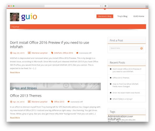 Harrington Pro Responsive Theme WordPress blog template - marlene.guio.com