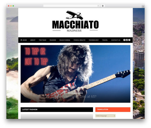 Hickory theme WordPress - macchiatomadness.com
