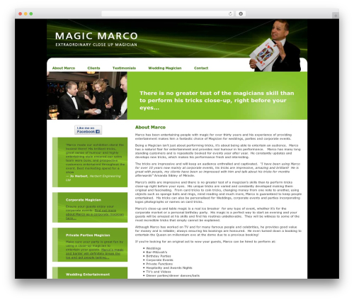 WordPress collision-testimonials plugin - magicmarco.co.uk