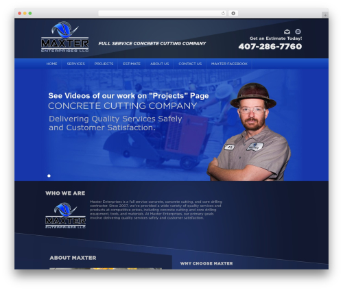 WordPress mega-slider plugin - maxterenterprises.com