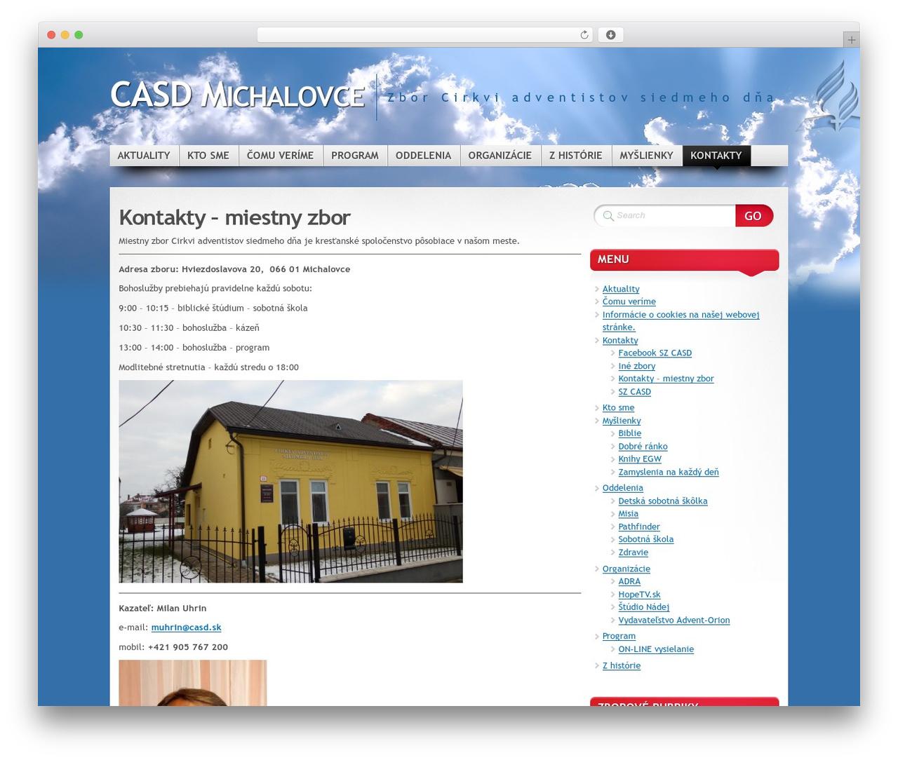Mystique - Oblak WordPress page template - michalovce.casd.sk
