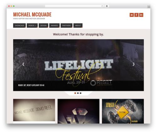 Parabola template WordPress free - mmcquade.com