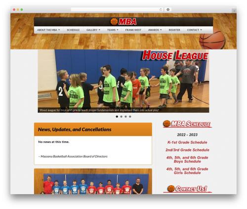 Sportedge Child WordPress theme design - massenabasketballassociation.com