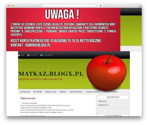 Template WordPress AppleX - matkaz.blogx.pl