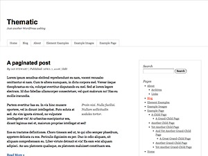 Thematic WordPress blog template