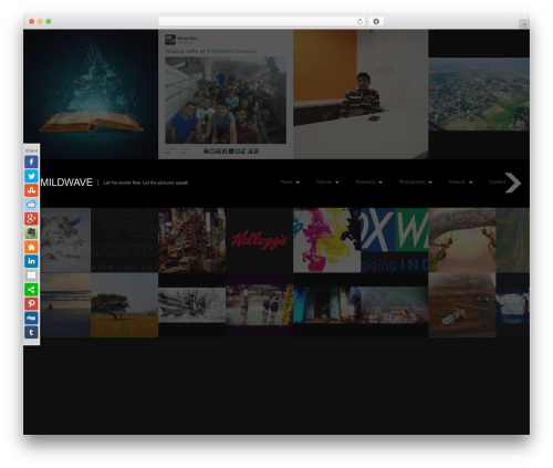 Theme WordPress Fullscreen - mildwave.in