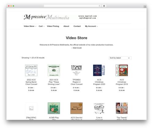 Theme WordPress Responsive - mpvid.com