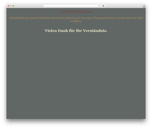 Theme WordPress tegude - mitarbeiter-fahrzeug.de