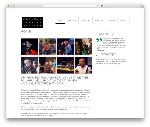 WordPress theme cleancorp - musicaltheatrenetwork.com