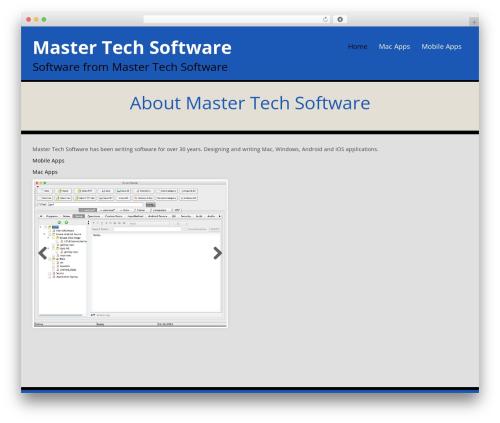WordPress theme WP Doppio - mastertechsoftware.com