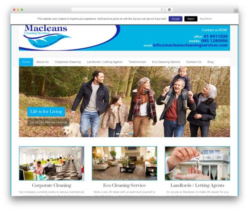 Free WordPress Social Media Widget by Acurax plugin - macleanscleaningservices.com