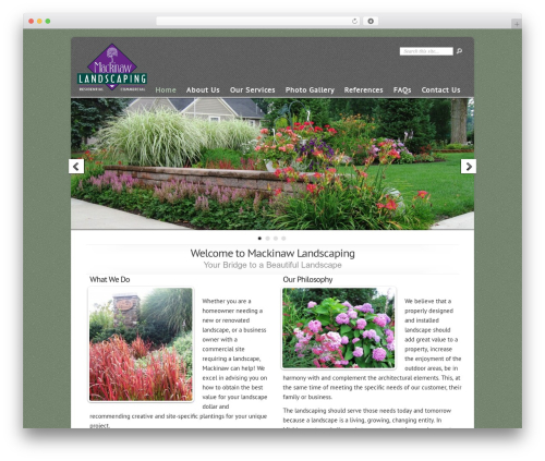 Best WordPress theme Chameleon - mackinawlandscaping.com