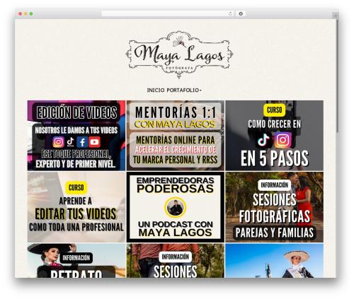 Bokeh Pro 2 theme WordPress - mayalagos.com
