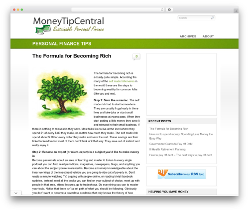 Eco WordPress template - moneytipcentral.com