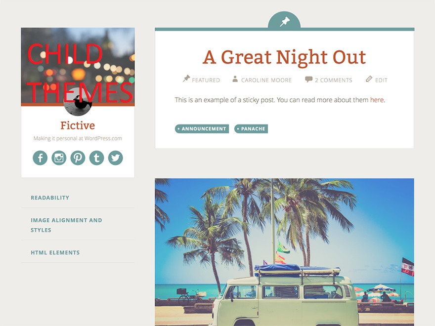 Fictive Child WordPress theme