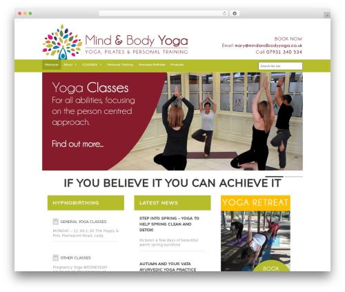 FITNESS-WP gym WordPress theme - mindandbodyyoga.co.uk