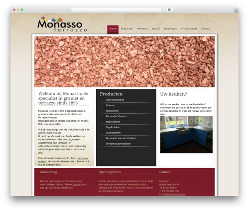 Fresh And Clean template WordPress - monasso.com