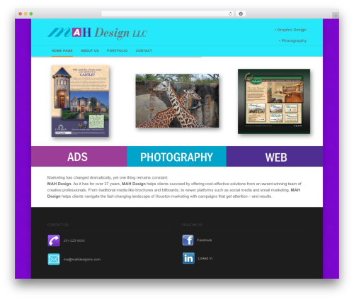 Jaguar WordPress theme - mahdesigninc.com