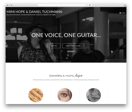 MinimalZerif WordPress website template - mimihopemusic.com