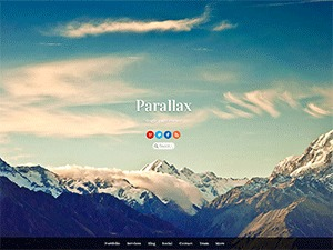 Parallax premium WordPress theme