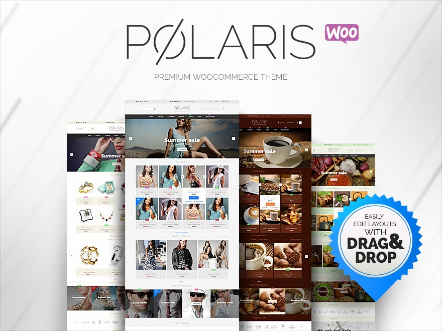 Planetshine Polaris WordPress ecommerce template