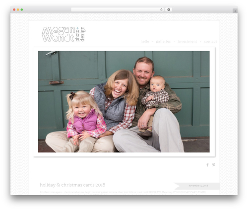 ProPhoto WordPress gallery theme - meganwendt.com