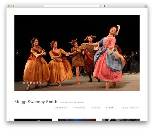 Qua theme WordPress - meggisweeney.com