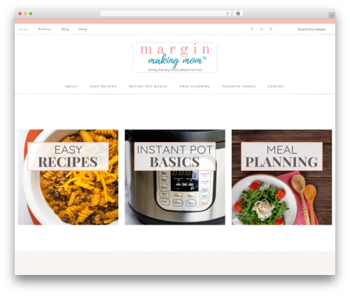 Refined Theme best WordPress theme - marginmakingmom.com