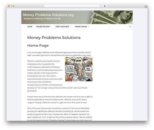 Socrates 5 Child WordPress template - moneyproblemssolutions.org