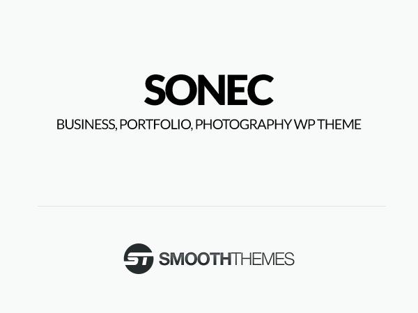 Sonec best WordPress theme