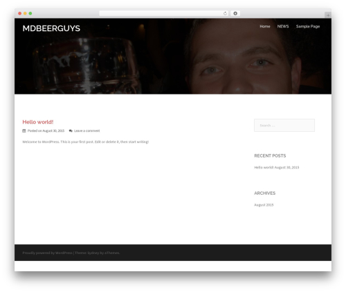 Sydney WordPress theme free download - mdbeerguys.com