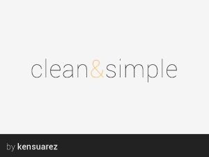 WordPress theme Clean & Simple