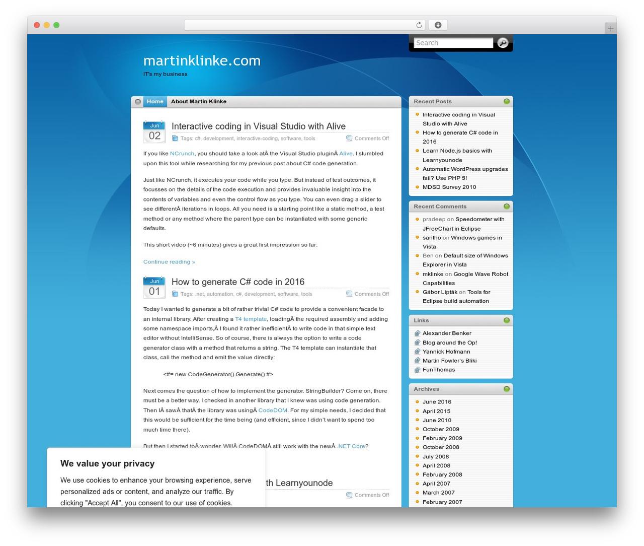 WordPress theme iTheme - martinklinke.com