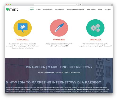WordPress theme Swatch - mint-media.pl