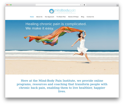 WordPress website template Divi - mindbodypaininstitute.com.au