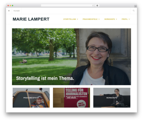 WordPress website template Ixion - marielampert.de