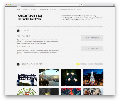 Yin and Yang WordPress template for business - magnumevents.eu