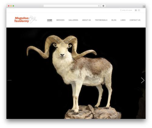 Armada WordPress template - mogollontaxidermy.com