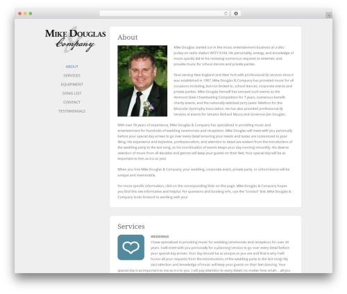 Best WordPress template Solo - mikedouglasdj.com