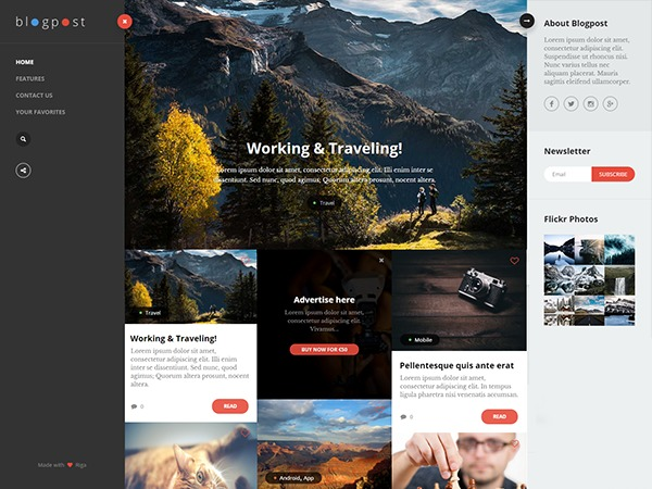BlogPost Lite theme WordPress free